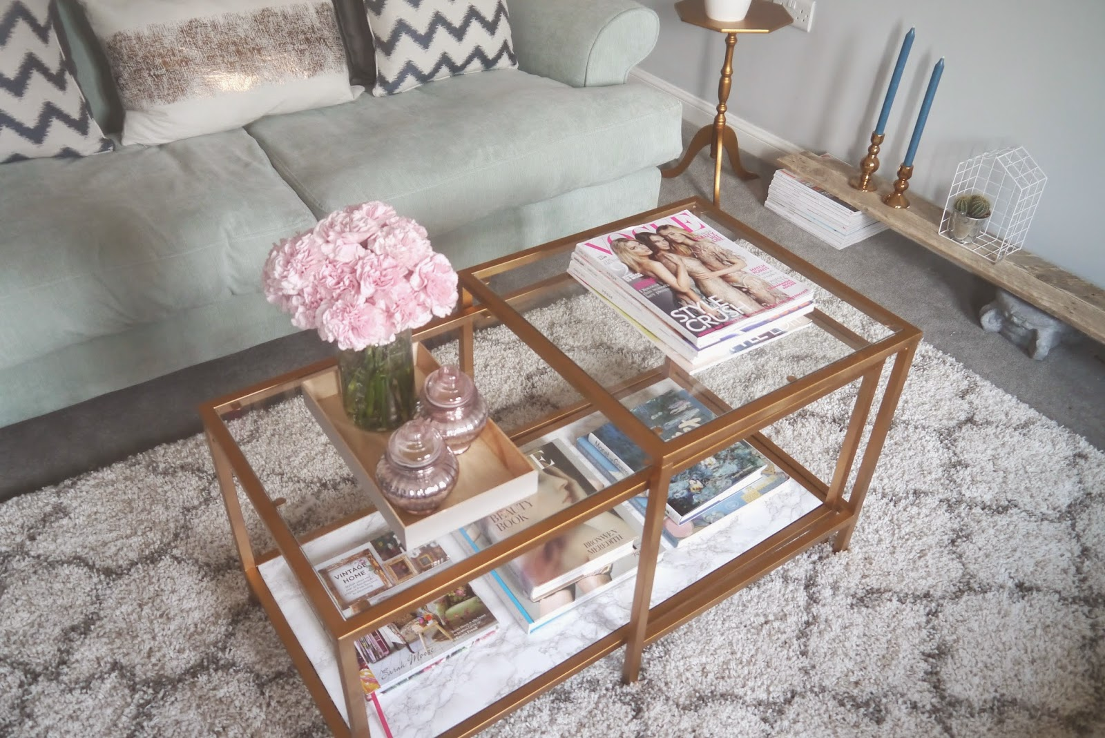 ikea hack a gold marble coffee table georgi a