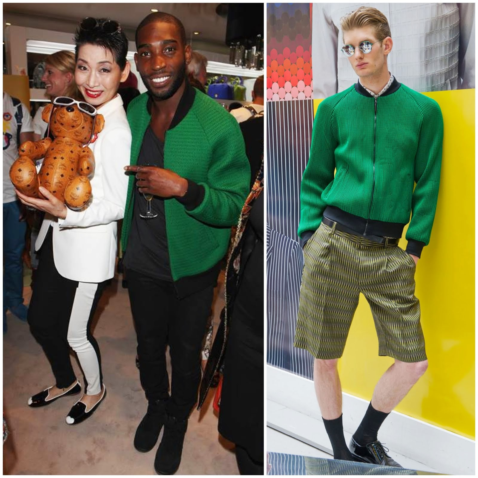 00O00 Menswear Blog: Tinie Tempah in Jonathan Saunders - MCM x Craig & Karl Eyes On The Horizon launch, London July 2013