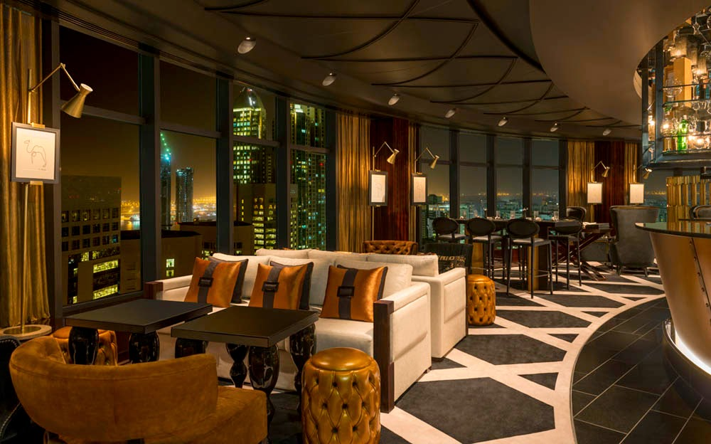 Stratos at Le Royal Méridien Abu Dhabi is the only rotating restaurant in the UAE capital