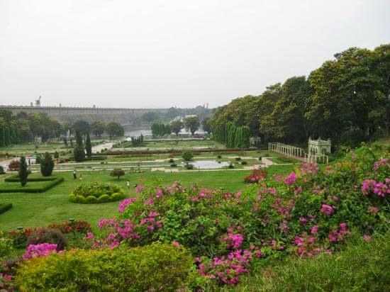 Brindavan Gardens in Mysore