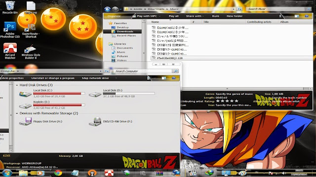 [ Theme Win 7 ] Dragon Ball Z 2