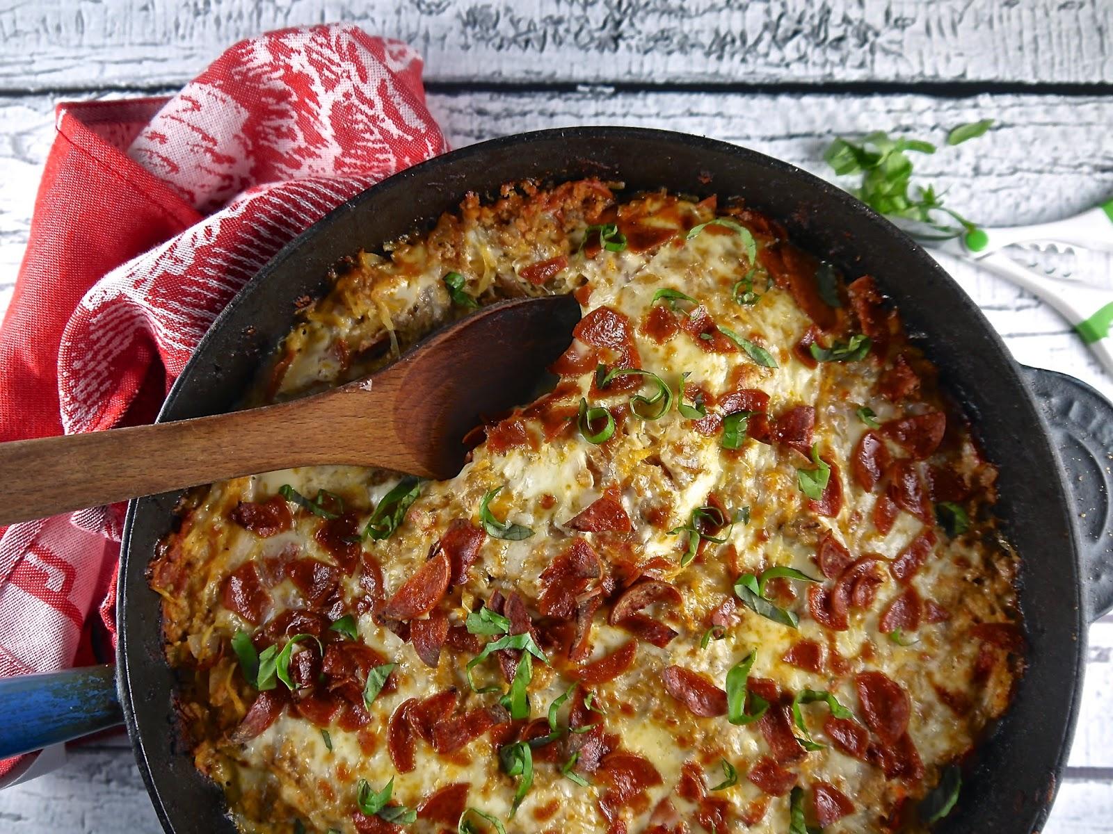 paleo spaghetti squash pizza casserole (recipe revisit)