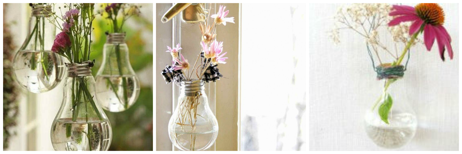 LIGHT BULB FLOWER POT FLORERO CON UNA BOMBILLA