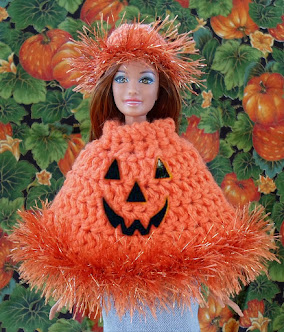 free crochet poncho pattern for barbie