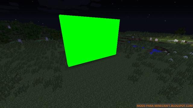 En esta imagen se pueden ver los bloques verdes pensados para hacer efectos de video