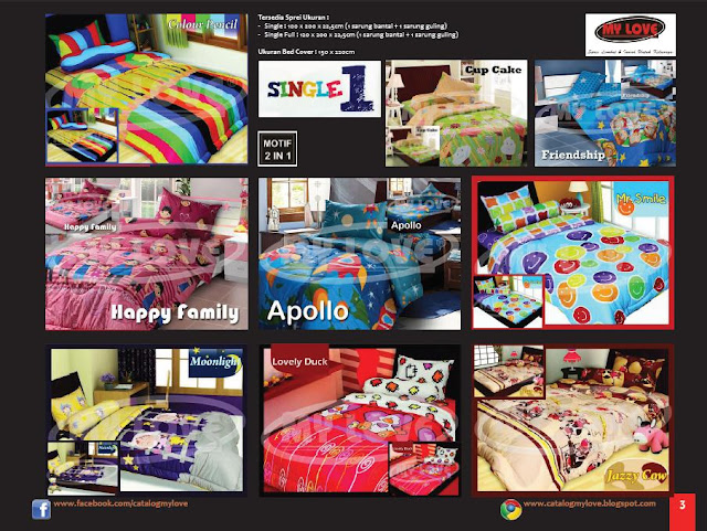 Sprei dan Bedcover My Love Single 1