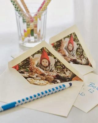 Manualidades de Navidad: Sobres con fotos para tarjetas Navideñas
