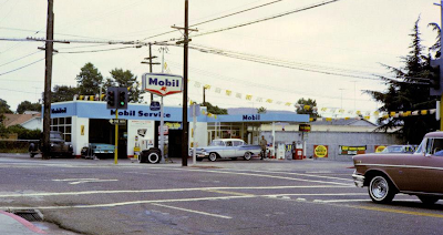 Mobil Gas Station in the 60s