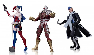 San Diego Comic-Con 2013 First Look DC Comics Suicide Squad Super Villains 3 Pack - Deadshot, Harley Quinn & Captain Boomerang