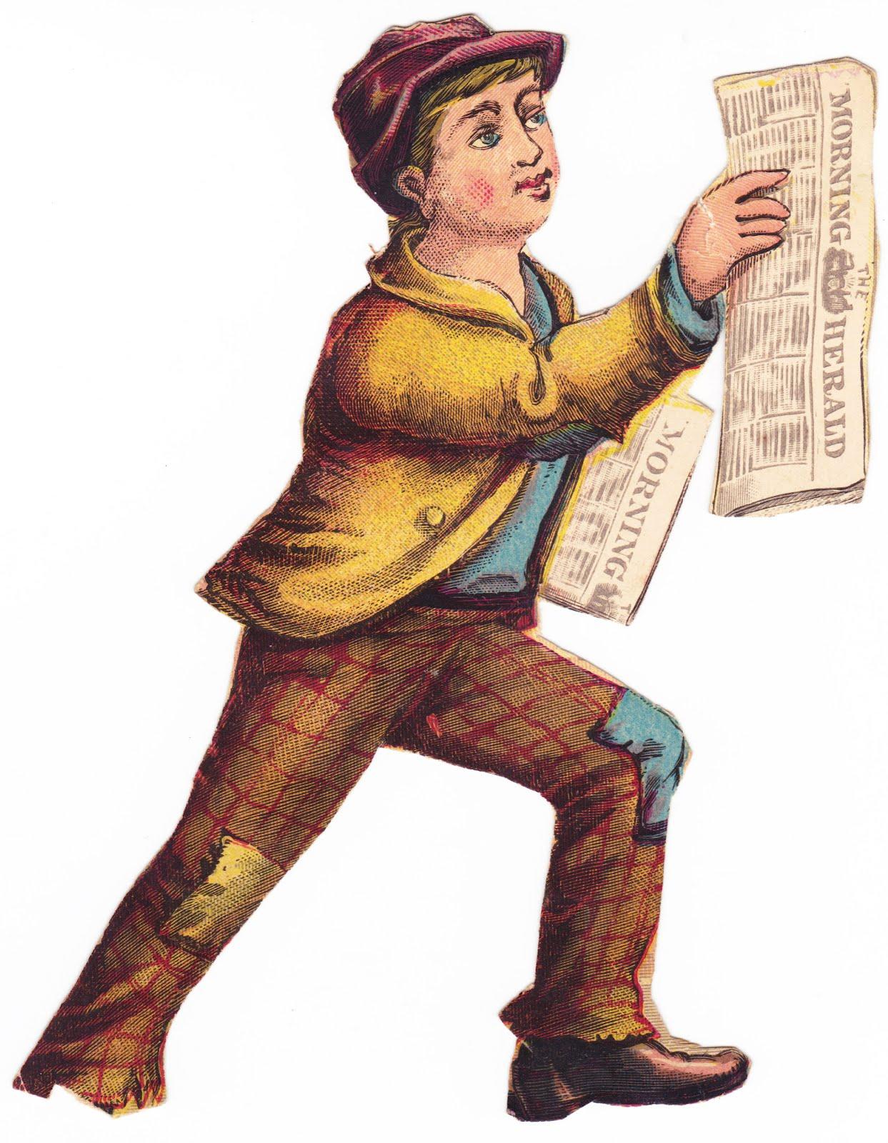 Vintage Newspaper Boy 1 Boy Hawking Newspapers i