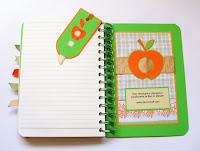 тетрадка за рецепти - ябълка