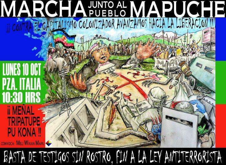 Marcha en Santiago, en la tierra del Oeste