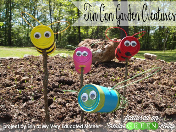 make upcycled tin can garden creatures creative green living
