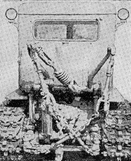 Установка заднего навесного устройстваХТЗ Т-74 для работы с прицепной скобой