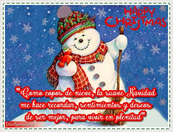 Reflexiones navideñas, tarjetas lindas