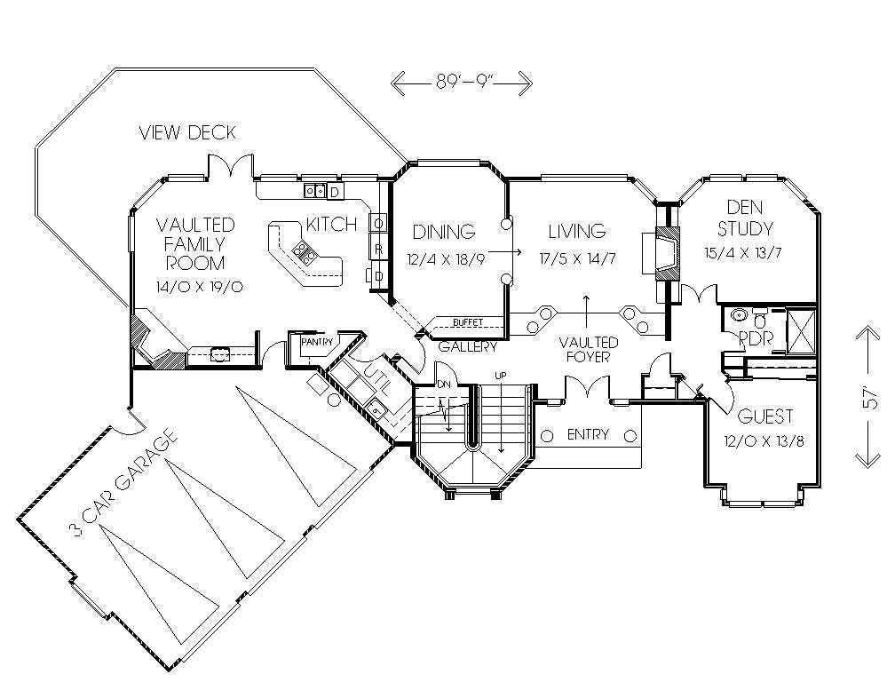 Fachada y planos de una casa de recreaci n chalet con for Carros para planos arquitectonicos
