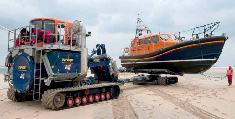 Shannon lifeboat and Supacat launch-and-recovery vehicle
