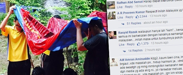 Gambar Budak Cina & India Payung Rakan Melayu Tengah Solat Jadi Viral