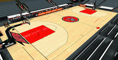 NBA 2K14 Raptors HD Court Mod
