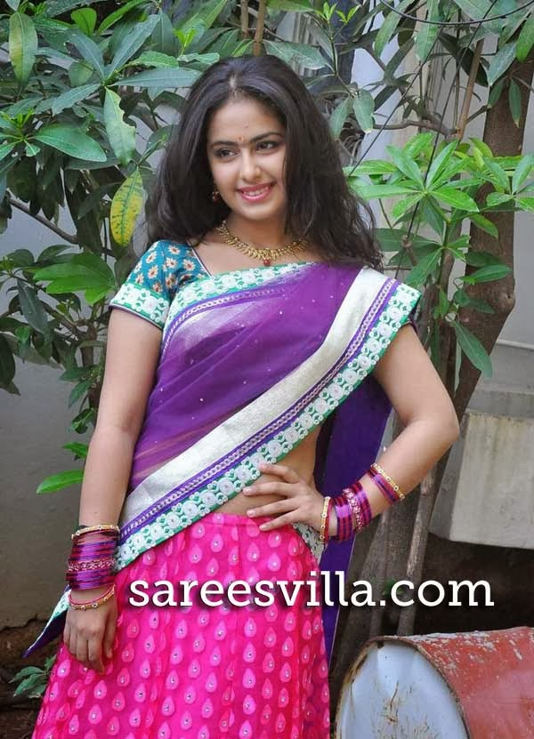 Actress Avika Gor In Half Saree