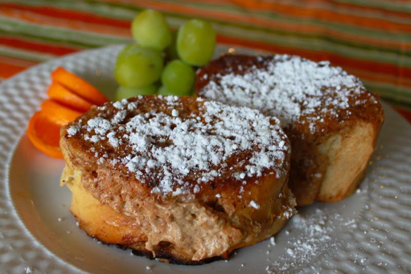 Pumpkin Cream Cheese Stuffed French Toast | Between 3 SistersBetween 3 ...