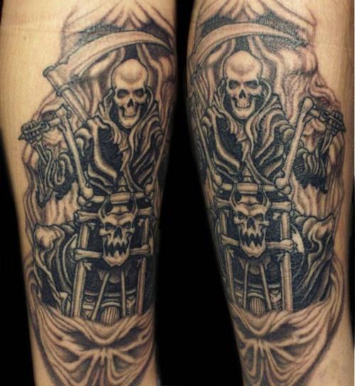 Motor Tattoo Designs Biker tattoos designs