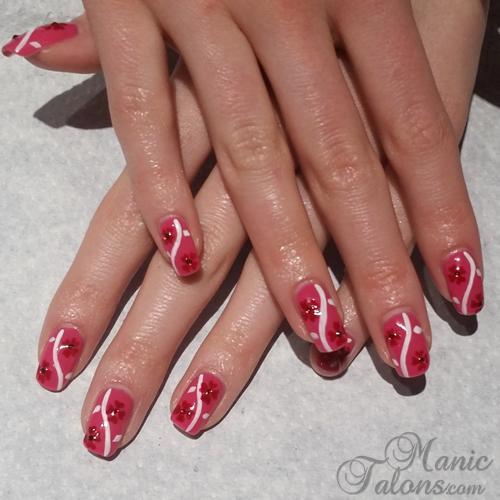 Valentine's Day Flower Manicure