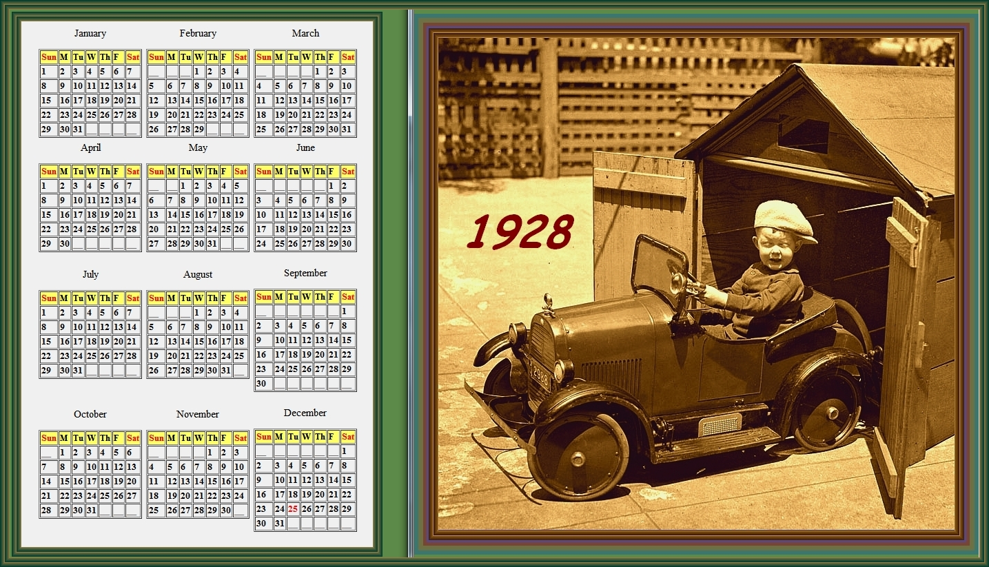views from north cecil     1928 calendar  u0026 1716 calendar    for use in 2012