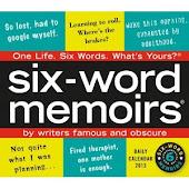 2013 Six-Word Memoir Calendar