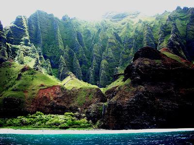 Kauai volcano waterfalls cascadas volcán kauai