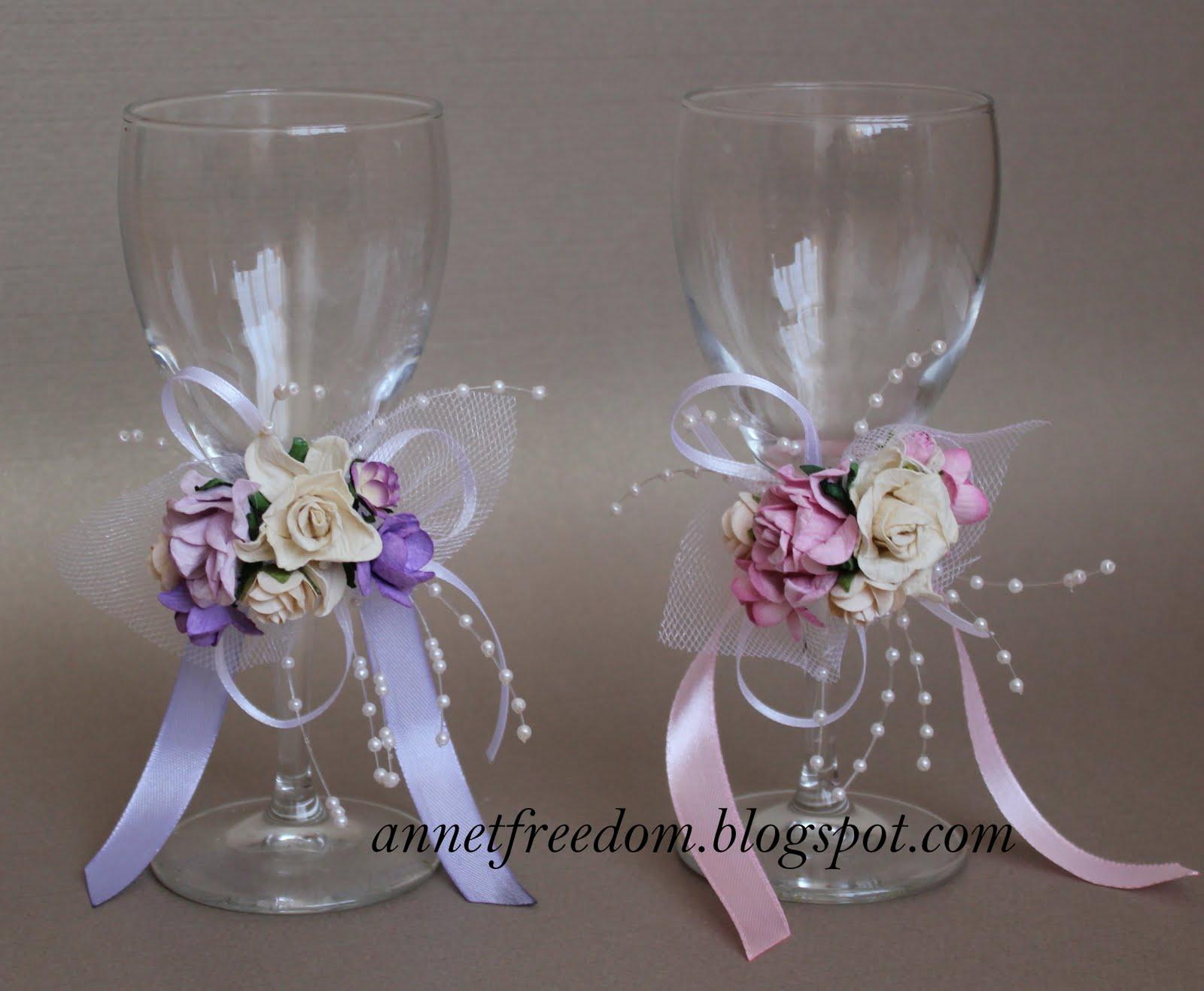 Свадебные украшения свечи мастер класс