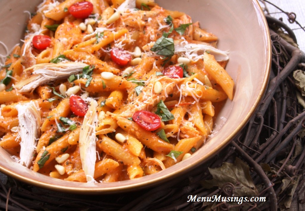 ... of a Modern American Mom: Roasted Red Pepper and Basil Pesto Penne