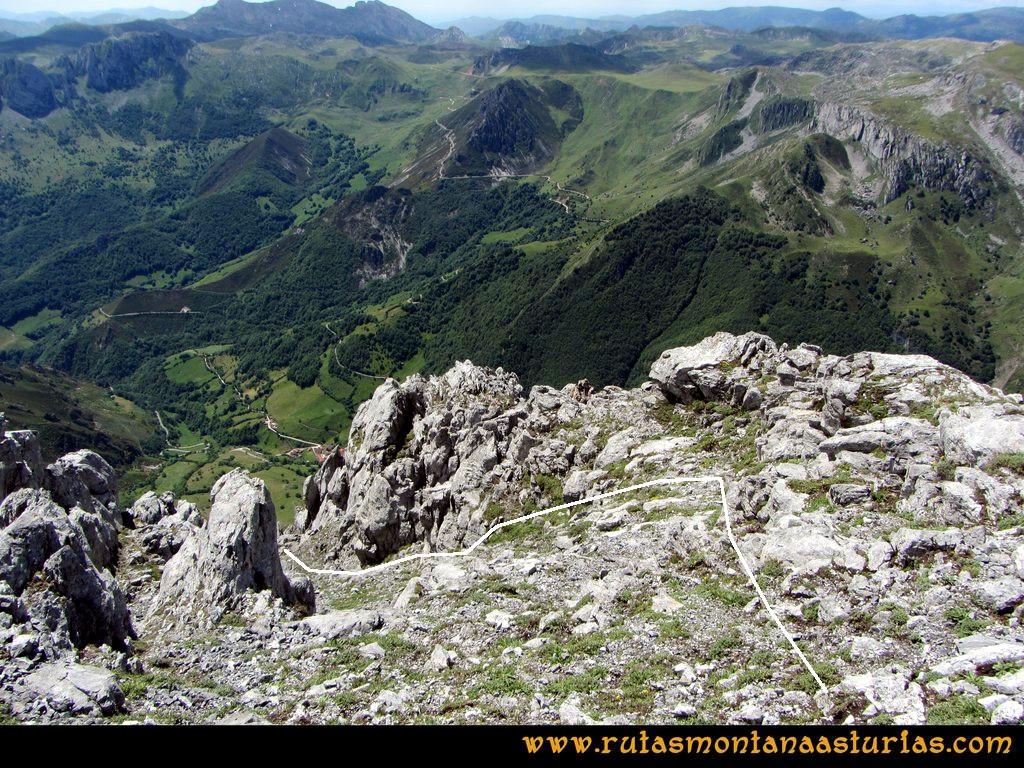 Ruta Tuiza Siegalavá: Iniciando descenso