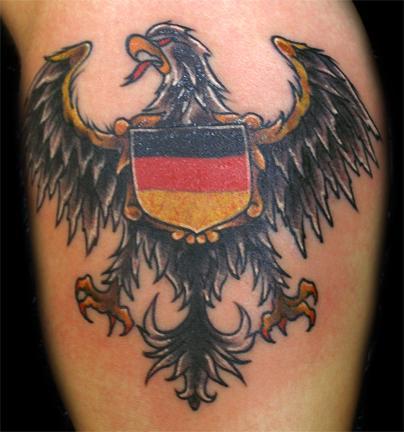 german eagle flag tattoo. Black Bedroom Furniture Sets. Home Design Ideas