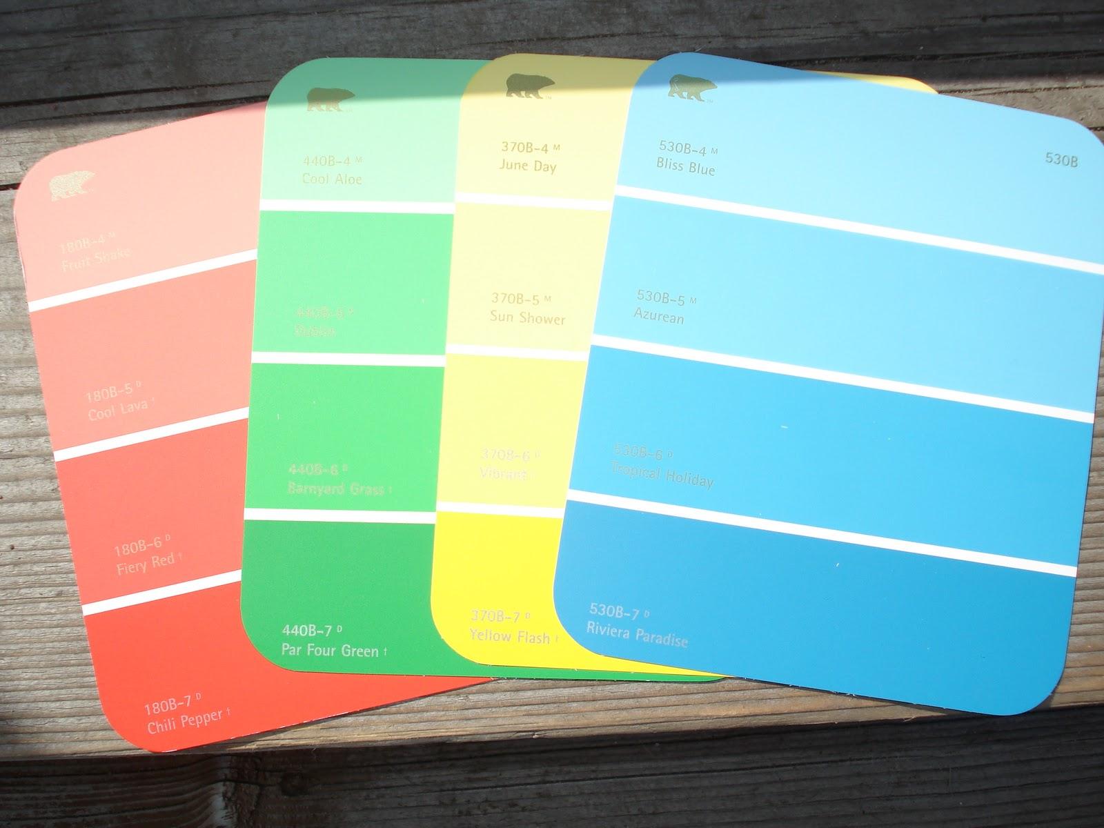 Karen 39 s ideas galore paint chip color match scavenger hunt for Paint color chips