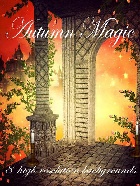 Autumn Magic digital fantasy backgrounds