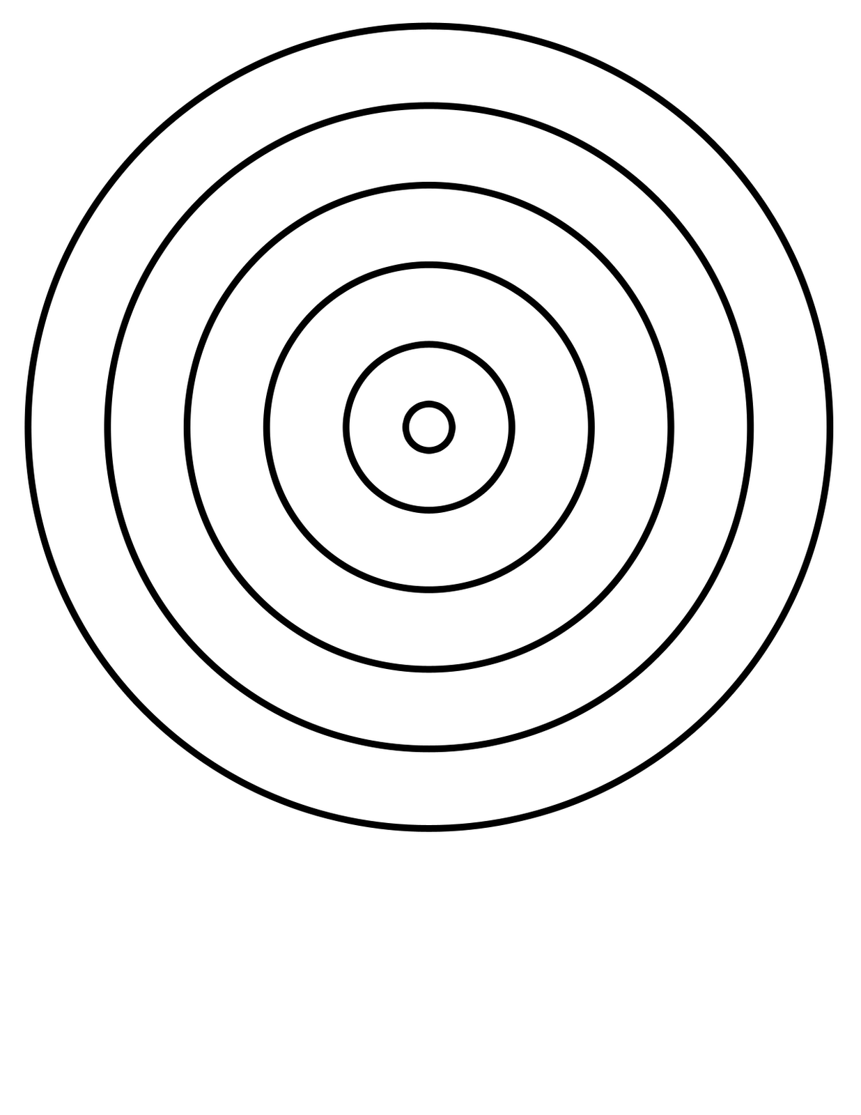 Archery Target Coloring Page Coloring Pages