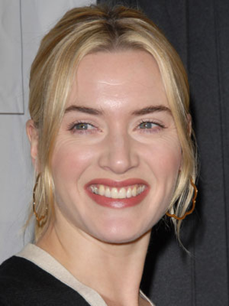 Face-framing waves add a soft, romantic touch to Kate Winslet's pretty pony.