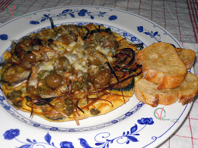 Frittata de calabacn.
