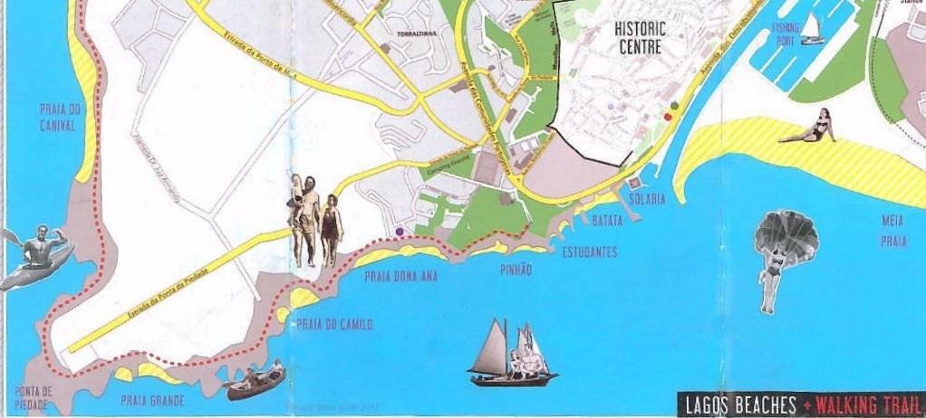 Пляжи Лагуша, карта фото