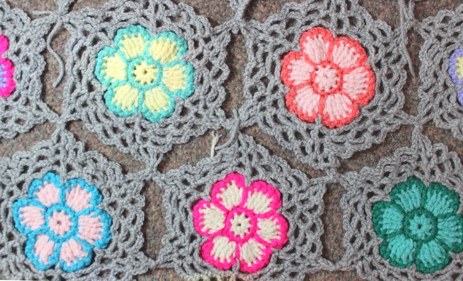 crochet blanket flower