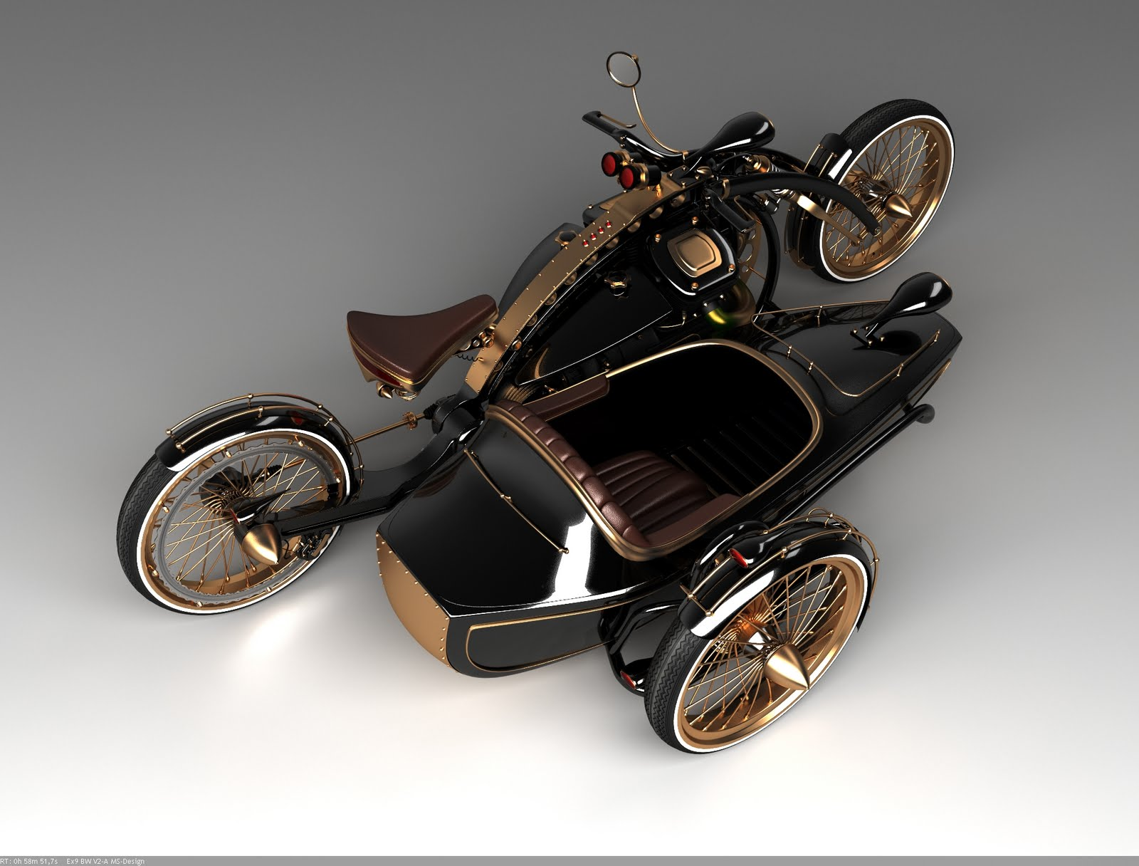 Motorcycle 74 solif design steampunk sidecar for What is steampunk design