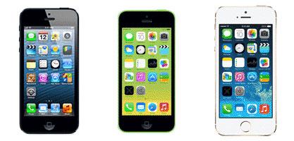 Terminales iPhone5, iPhone5C y iPhone5S.