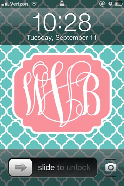 diy monogram iphone wallpaper