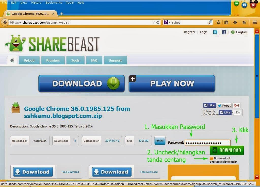 Cara Download file Di Sharebeast Terbaru 2014