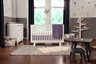 babyletto Hudson 3-in-1 Convertible Crib with Toddler Rail, White
