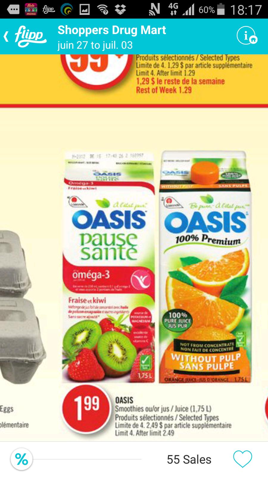 Oasis coupon code