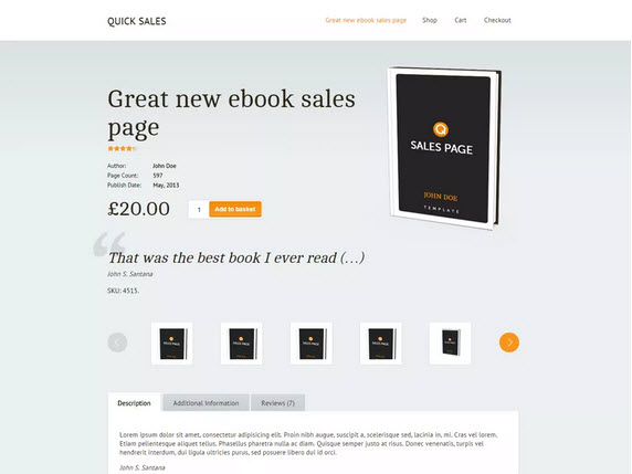 Quick Sales Wordpress theme