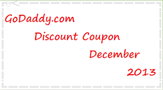 Godaddy Discount Coupon December 2013