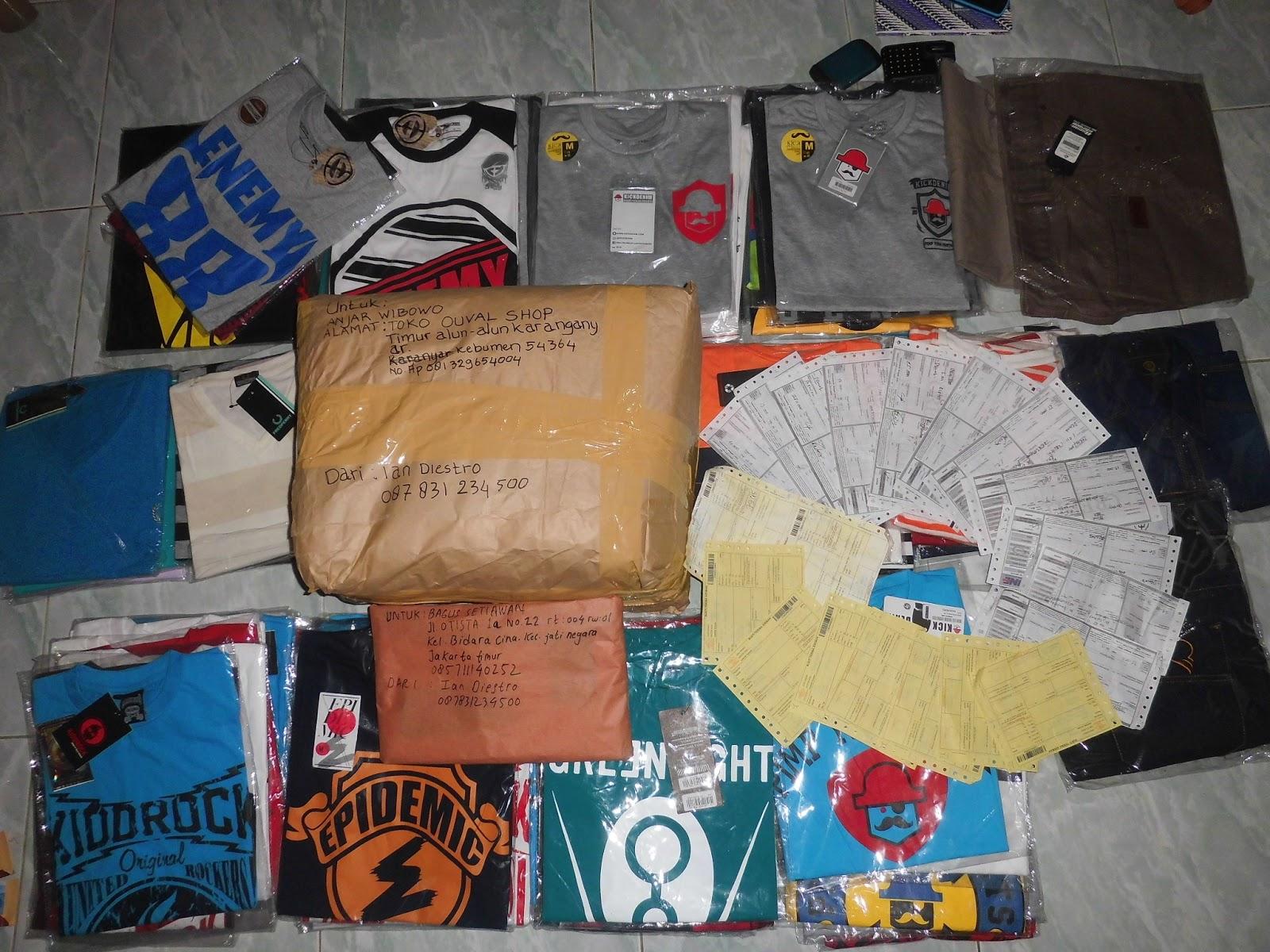 bukti pengiriman pusat kaos distro grosir dan eceran